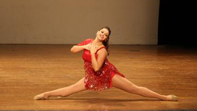 Dancer Wearing Red
